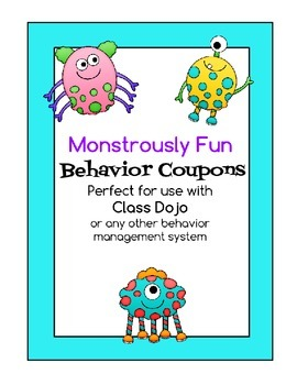 Monster Reward Coupons - Perfect with Class Dojo!