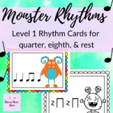 Monster Rhythm Cards Level 1 Rhythms: quarter notes, quart