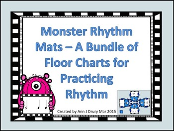 Monster Rhythm Mats - Charts for Practicing Rhythm