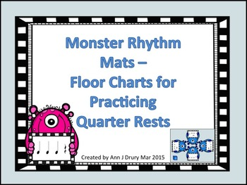 Monster Rhythm Mats - Charts for Practicing Quarter Rests