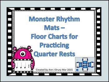 Monster Rhythm Mats - Charts for Practicing Quarter Rests