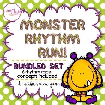 Rhythm Game - Monster Rhythm Run - Bundled Set