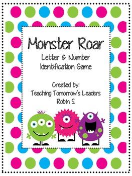 Monster Roar - Letter & Number Identification Game