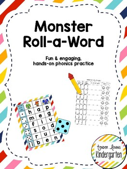 Monster Roll-a-Word: cvc phonics practice