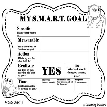Monster S.M.A.R.T. Goals Setting Power Point Lesson