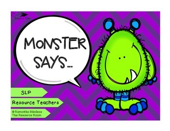 Monster Says... (Following Directions & Working Memory)
