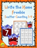 Monster Scatter Counting 1-9 Write the Home | Distance Learning
