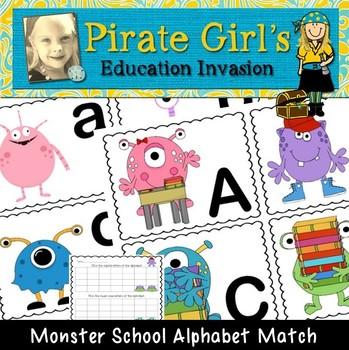 Monster School Alphabet Match