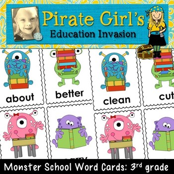 Monster School Word Cards (3rd grade dolch)