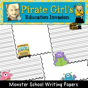 Monster School Writing Papers