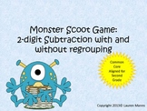 Monster Scoot 2-digit subtraction with and without regrouping