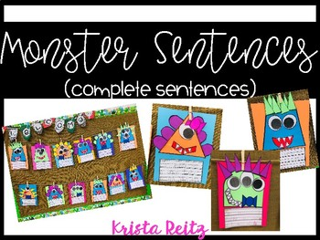 Monster Sentences {Complete and Incomplete Sentences}