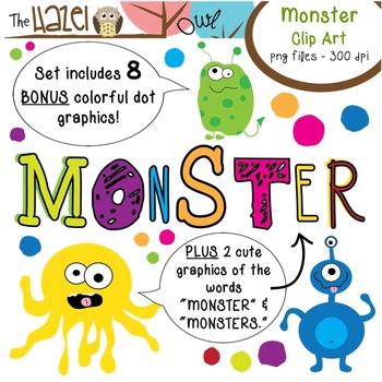 Monster Set: Clip Art Graphics for Teachers