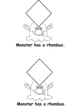 Monster Shape Easy Reader