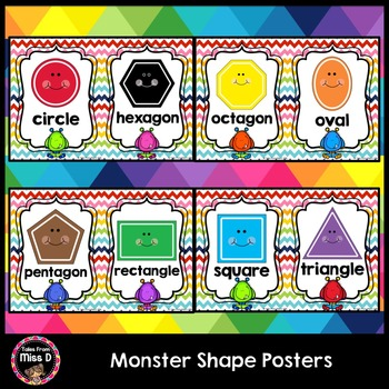Monster Shape Posters