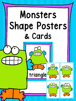 Monster Shape Posters and Memory Cards