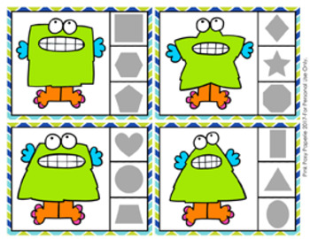 Monster Shapes Clip Cards