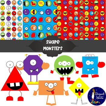 Monster Shapes - Clip art