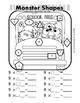 Monster Shapes Multiplication Worksheets