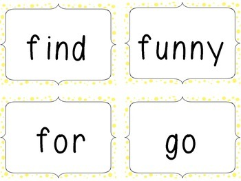 Monster Sight Word Bingo and Flash Cards- Dolch Pre-Primer