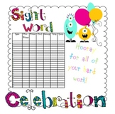 Monster Sight Word Celebration Poster