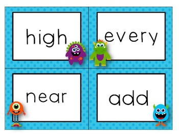 Monster Sight Word Flash Cards: Fry - The Third 100