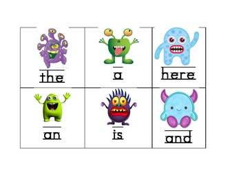 Monster Sight Word Game