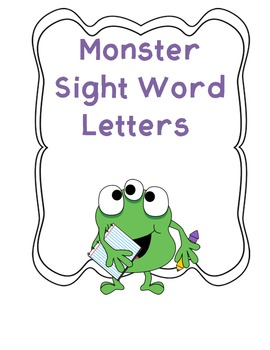 Word Wall Letters and Templates Monster Themed