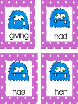 Monster Sight Word Mix Up