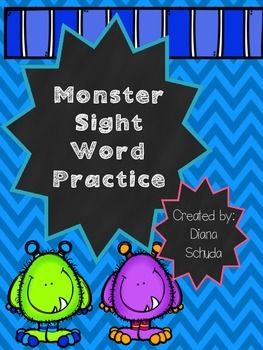 Monster Sight Word Practice