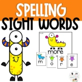 Monster Sight Word Spelling Task Cards Review Game