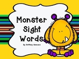 Monster Sight Words