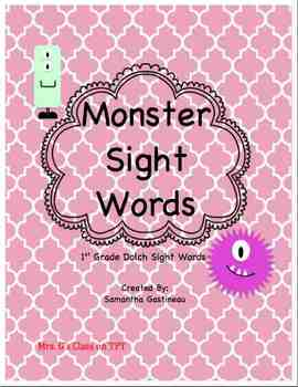 Monster Sight Words - 1st Grade