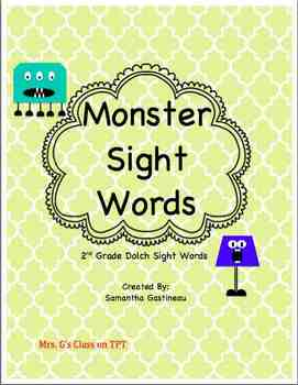 Monster Sight Words - 2nd Grade