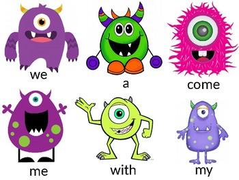 Monster Sight Words