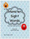 Monster Sight Words - Pre-Primer
