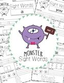 Sight Words Worksheet - Set 1 - Fry's 100 (Monster)