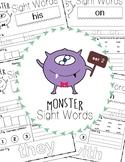 Sight Words Worksheet - Set 2 - Fry's 100 (Monster)