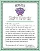 Sight Words Worksheet - Set 3 - Fry's 100 (Monster)