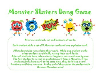 Monster Skaters Bang Game