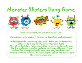 Monster Skaters Bang Game