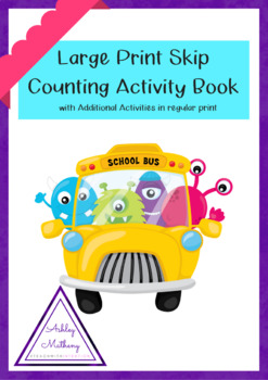 Monster Skip Counting Bundle with Large Print