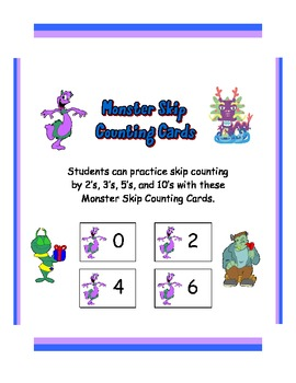 Monster Skip Counting Cards
