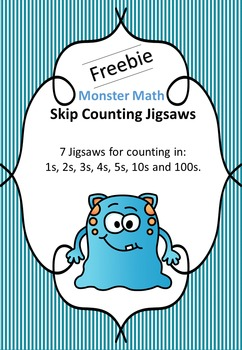 Monster Skip Counting Jigsaws - FREEBIE