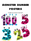 Monster Skip Counting Number Posters