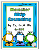 Monster Math Skip Counting Worksheets Activities & Posters