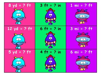 Monster Slides and Ladders Math Conversion Game
