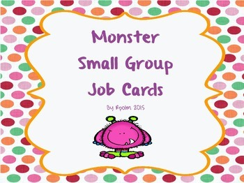 Monster Small Group Job Cards