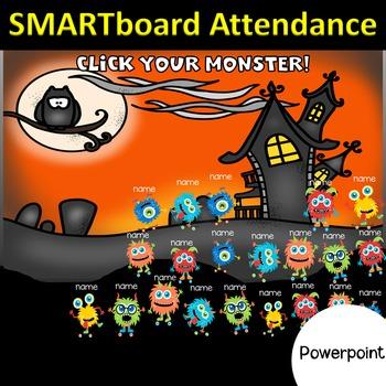 Monster Smart Board Attendance (Powerpoint)