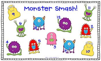 Monster Smash!  An ADDITION FLUENCY Game!  Addition Facts to 12 and 20!